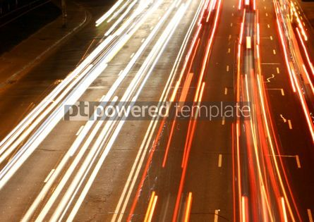 Transportation: Night city road lights (long exposure) #05436