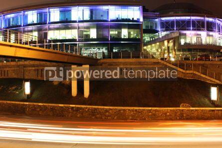 Transportation: Illuminated office building at night #05437