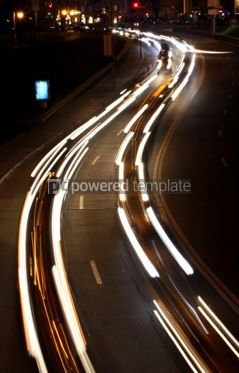 Transportation: Night city road lights (long exposure) #05438