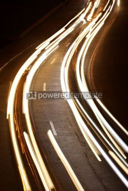 Transportation: Night city road lights (long exposure) #05439