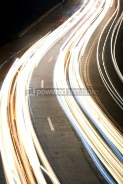 Transportation: Night city road lights (long exposure) #05440
