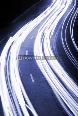 Transportation: Night city road lights (long exposure) #05441