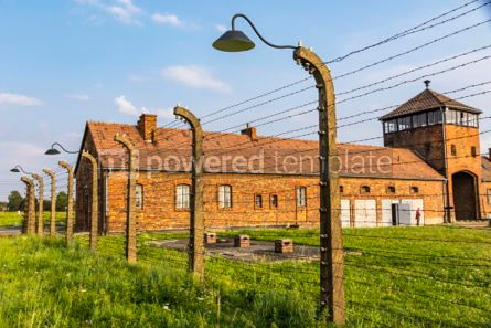 Architecture : Auschwitz II–Birkenau concentration camp in Oswiecim Poland #05457