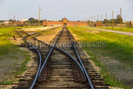 Architecture : Auschwitz II–Birkenau concentration camp in Oswiecim Poland #05466