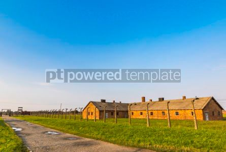 Architecture : Auschwitz II–Birkenau concentration camp in Oswiecim Poland #05469