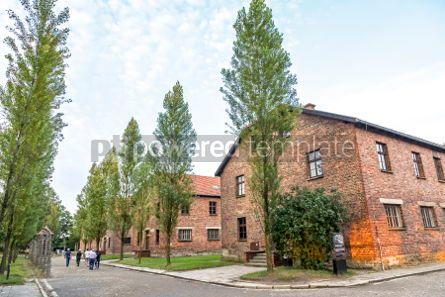 Architecture : Auschwitz I (Auschwitz-Birkenau) concentration camp Oswiecim P #05475
