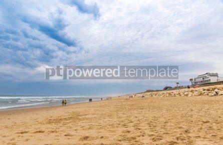 Nature: Ocean beach on the Atlantic coast of France near Lacanau-Ocean  #05478
