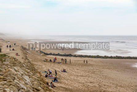 Nature: Ocean beach on the Atlantic coast of France near Lacanau-Ocean  #05479