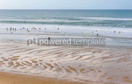 Nature: Surfers on the Atlantic ocean beach in Lacanau-Ocean Bordeaux  #05480