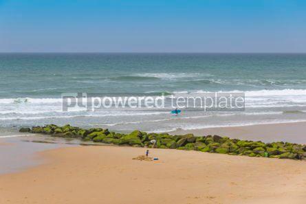 Nature: Ocean beach on the Atlantic coast of France near Lacanau-Ocean  #05482