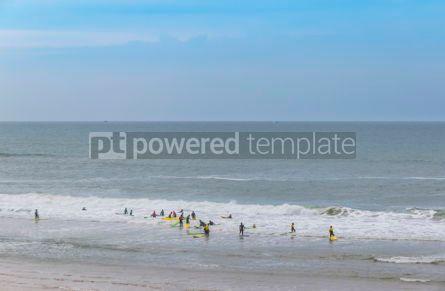 Nature: Surfers on the Atlantic ocean beach in Lacanau-Ocean Bordeaux  #05483