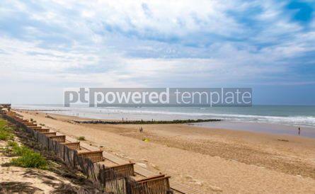 Nature: Ocean beach on the Atlantic coast of France near Lacanau-Ocean  #05484
