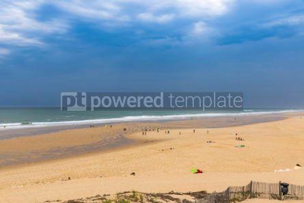 Nature: Ocean beach on the Atlantic coast of France near Lacanau-Ocean  #05485
