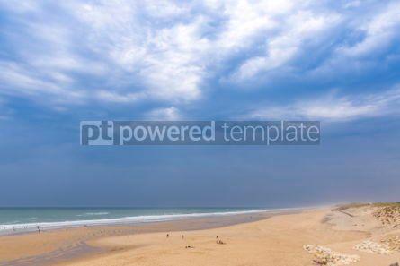 Nature: Ocean beach on the Atlantic coast of France near Lacanau-Ocean  #05486