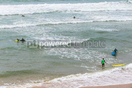 Nature: Surfers on the Atlantic ocean beach in Lacanau-Ocean Bordeaux  #05487