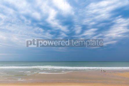 Nature: Ocean beach on the Atlantic coast of France near Lacanau-Ocean  #05489