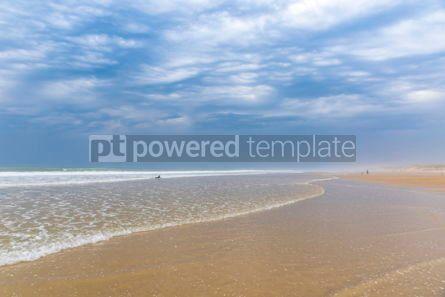 Nature: Ocean beach on the Atlantic coast of France near Lacanau-Ocean  #05490