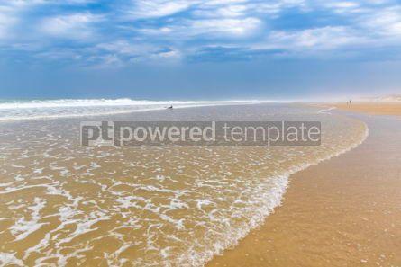 Nature: Ocean beach on the Atlantic coast of France near Lacanau-Ocean  #05491