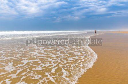 Nature: Ocean beach on the Atlantic coast of France near Lacanau-Ocean  #05492