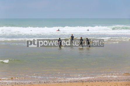 Nature: Surfers on the Atlantic ocean beach in Lacanau-Ocean Bordeaux  #05493