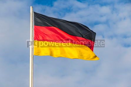 Education: German Flag waving on the wind #05498
