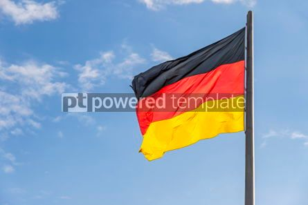 Education: German Flag waving on the wind #05499