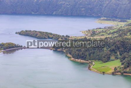 Nature: Lake of Sete Cidades on Sao Miguel island Azores Portugal #05503