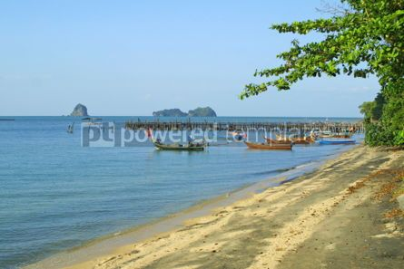 Nature: Famous black sand beach on Langkawi island Malaysia #05520