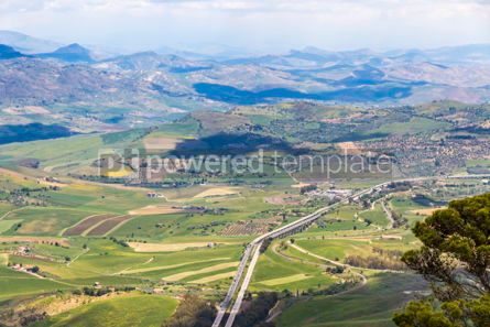 Nature: Picturesque green hilly valley near Enna city Sicily Italy #05525