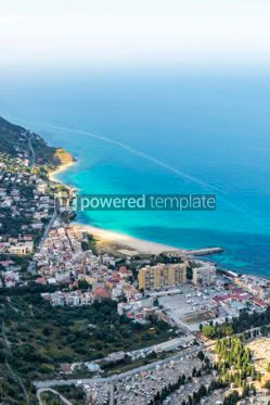 Nature: Aerial view of the Vergine Maria Beach in Palermo Sicily Italy #05529