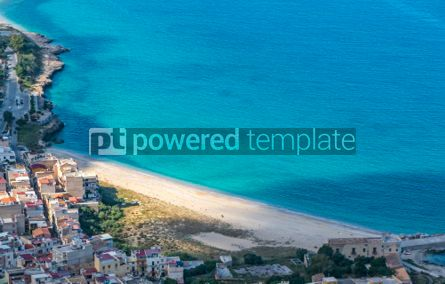Nature: Aerial view of the Vergine Maria Beach in Palermo Sicily Italy #05530