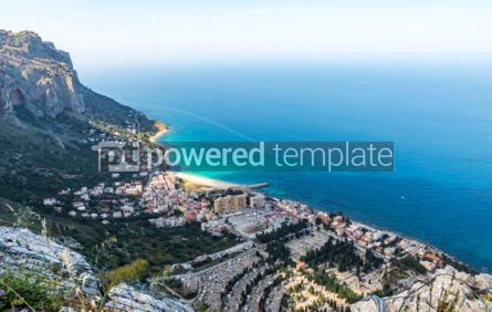 Nature: Aerial view of the Vergine Maria Beach in Palermo Sicily Italy #05531