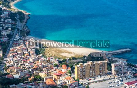 Nature: Aerial view of the Vergine Maria Beach in Palermo Sicily Italy #05532
