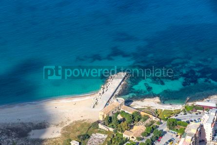 Nature: Aerial view of the Vergine Maria Beach in Palermo Sicily Italy #05533