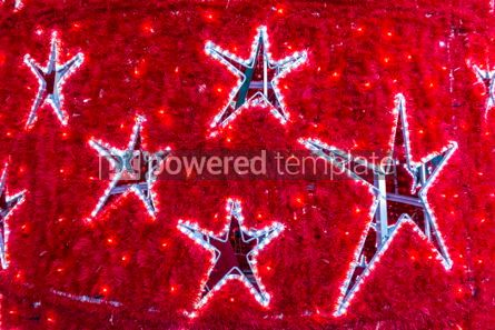 Holidays: Close-up star shapes on a decorated New Year tree #05536