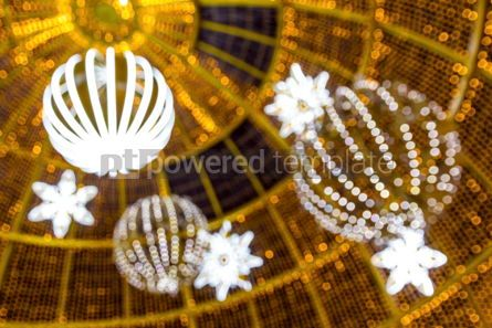 Holidays: Blurred illuminated bokeh of the lights of Christmas decorations #05544