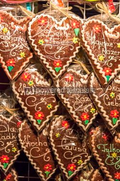 Holidays: Handmade gingerbread cookies - traditional Christmas gift #05545