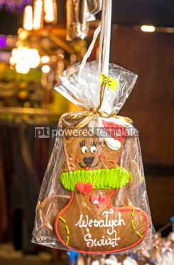 Holidays: Handmade gingerbread cookies - traditional Christmas gift #05546