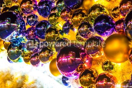 Holidays: Close-up Christmas New Year baubles on a Christmas tree #05550