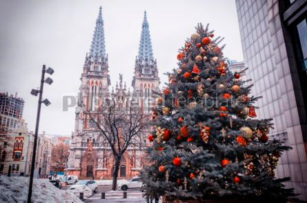 Architecture : St. Nicholas Roman Catholic Cathedral in Kyiv Ukraine #05558