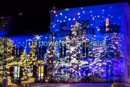 Architecture : Festive Christmas decorations on facades of buildings in Como I #05565