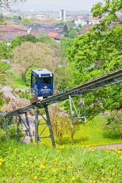 Transportation: Schlossbergbahn - funicular railway in Freiburg im Breisgau #05587