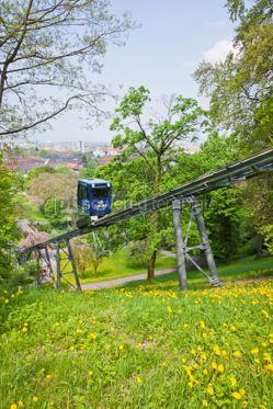 Transportation: Schlossbergbahn - funicular railway in Freiburg im Breisgau #05588