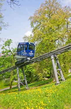 Transportation: Schlossbergbahn - funicular railway in Freiburg im Breisgau #05589