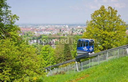 Transportation: Schlossbergbahn - funicular railway in Freiburg im Breisgau #05590