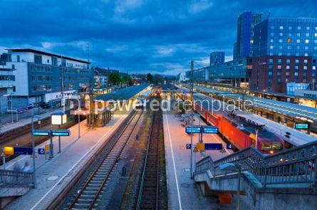 Transportation: Freiburg Hauptbahnhof railway station Germany #05592