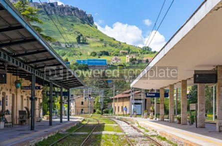 Transportation: Enna railway station (Stazione di Enna) Sicily Italy #05604