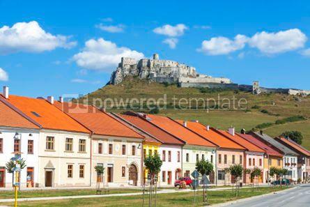 Architecture : Spisske Podhradie town and Spis Castle (Spissky hrad) Slovakia #05633