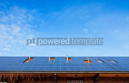 Architecture : Solar panels on the roof of building #05635