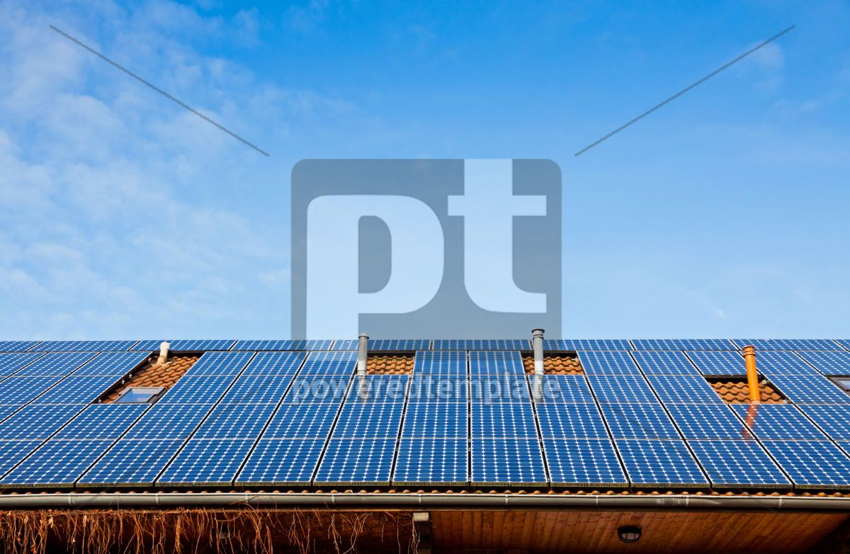 Solar panels on the roof of building, 05636, Architecture — PoweredTemplate.com